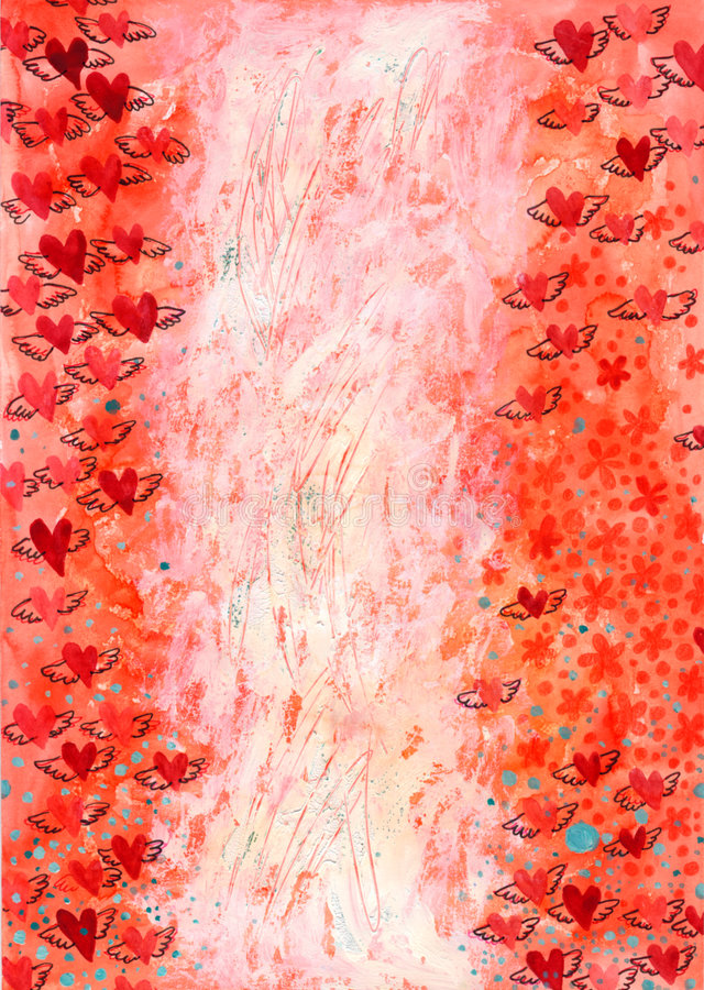 Download Winged Hearts Background Stock Photos - Image: 6619393