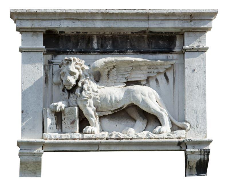 Winged lion.