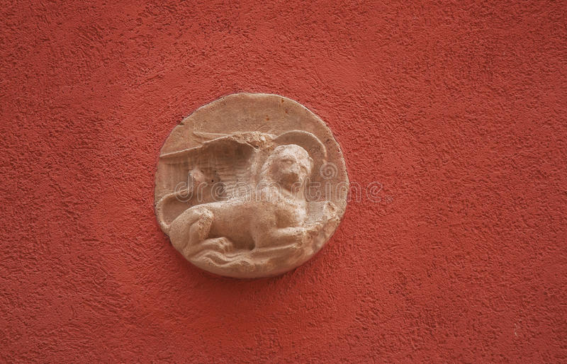 Winged lion. The emblem of the Republic of Venice stock image