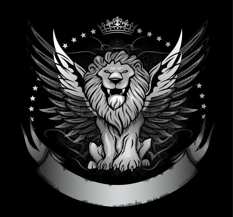 Free Winged Lion Badge Or Crest Royalty Free Stock Photography - 26927677