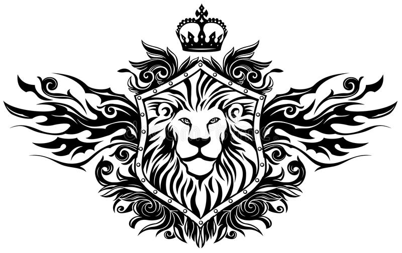 Winged Lion Insignia vector illustration