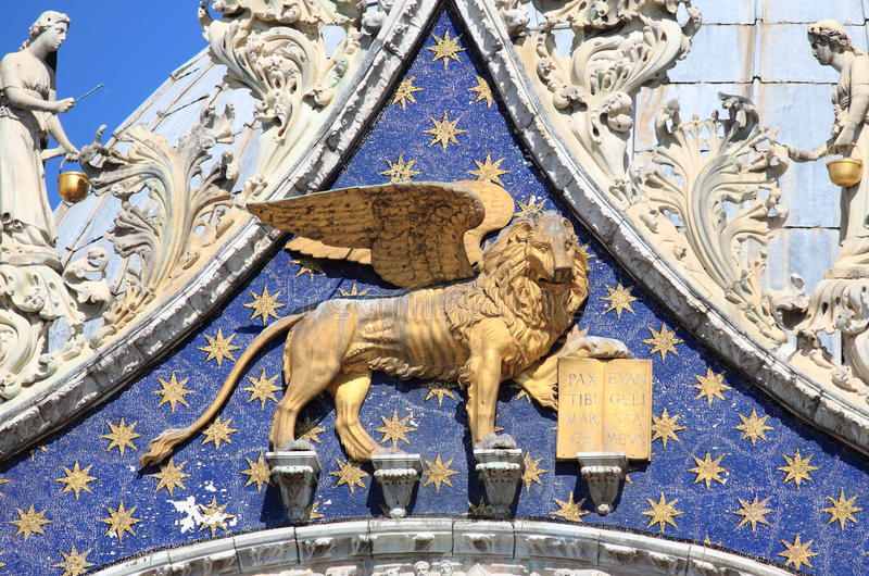 Winged lion of Venice royalty free stock photos