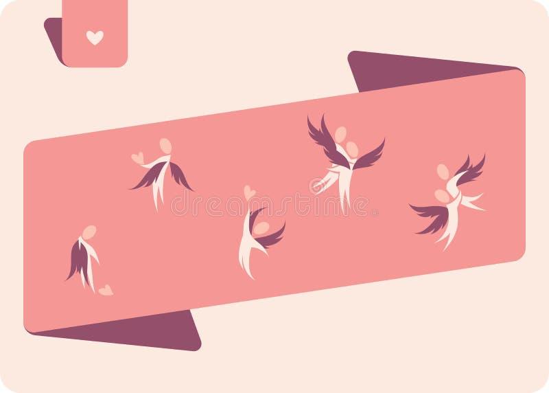Winged menschliche Abbildungen. vektor abbildung