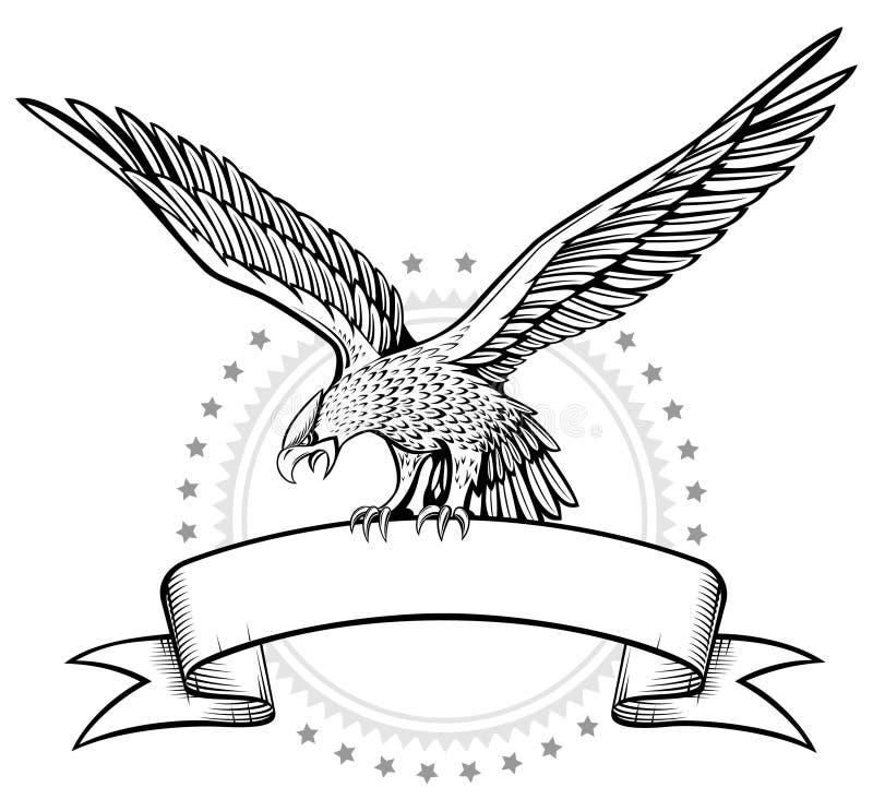 Winges Eagle banner royalty free illustration