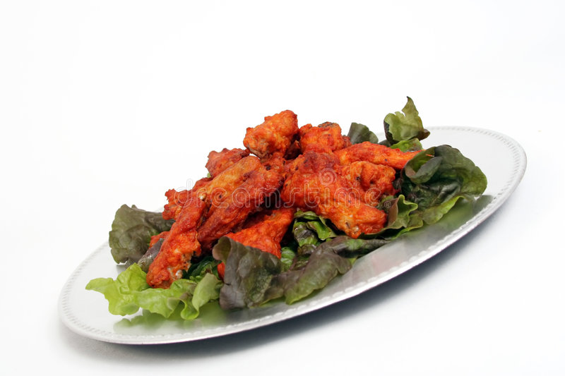 Download Wings stock image. Image of american, chicken, salad, appetizer - 493931