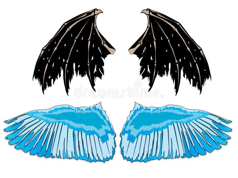 Wings-angel-demon stock photography