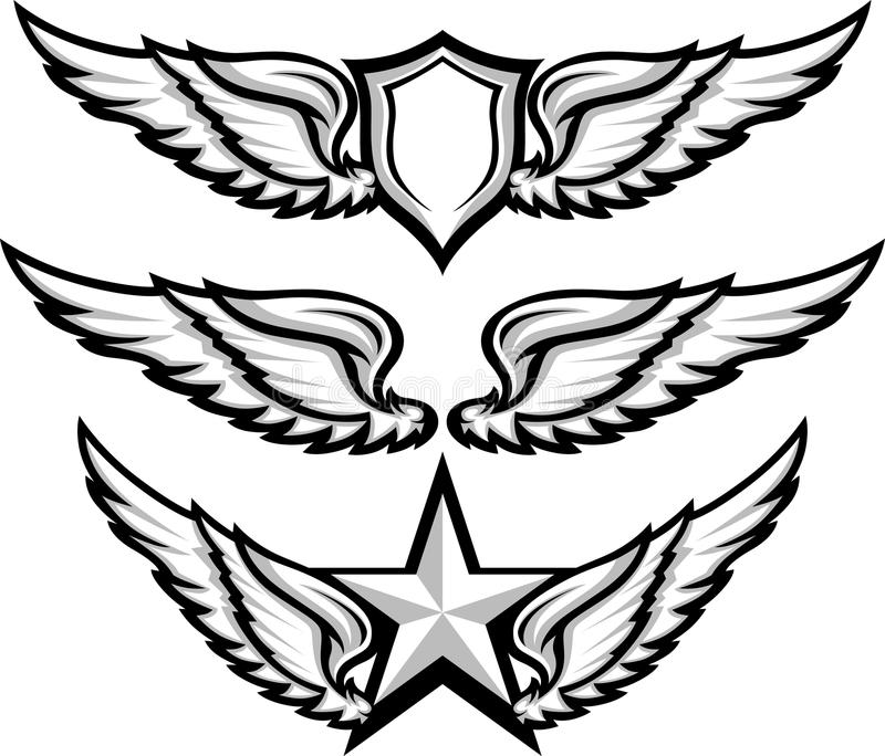 Download Wings And Badge Emblem Images Stock Vector - Image: 25771522