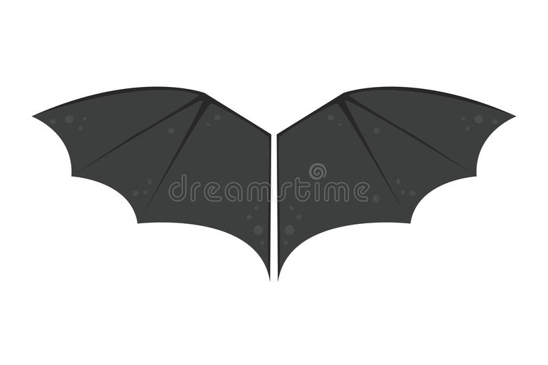 Wings bat black animalwildlife fly halloween mammal vampire flight and natural hawk life peace design element stock illustration