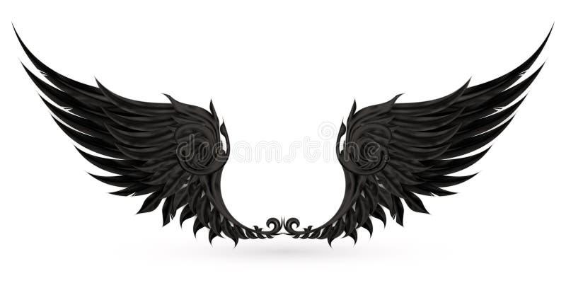 Wings black royalty free illustration