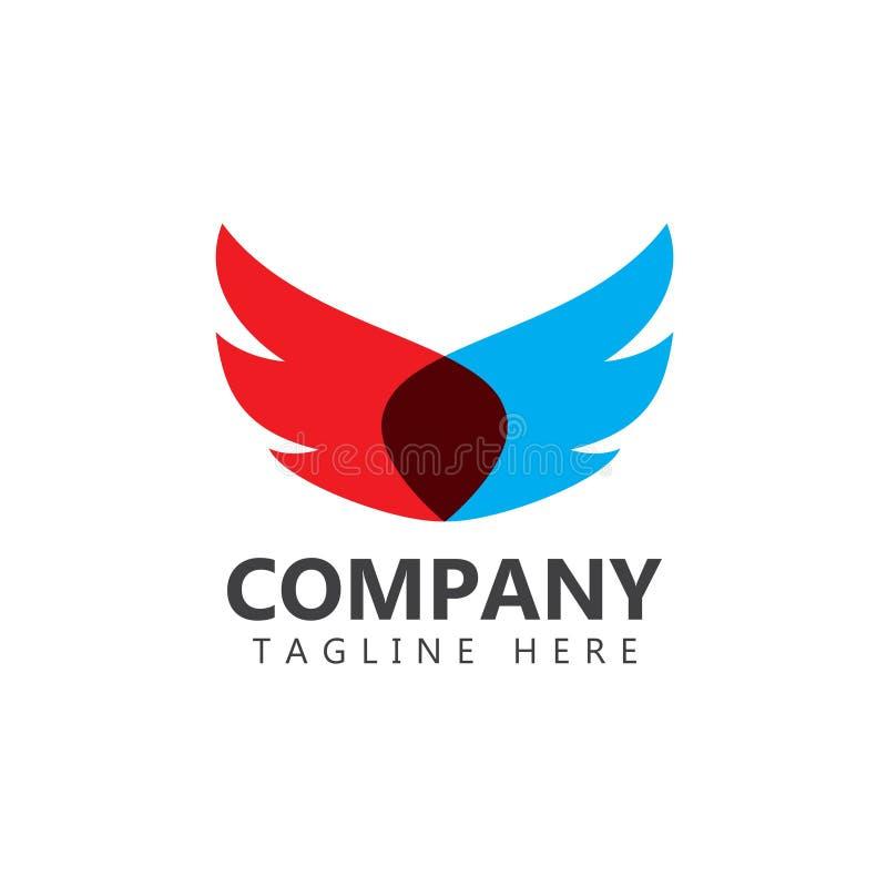 Wings Company Logo Vector Template Design Illustration stock abbildung