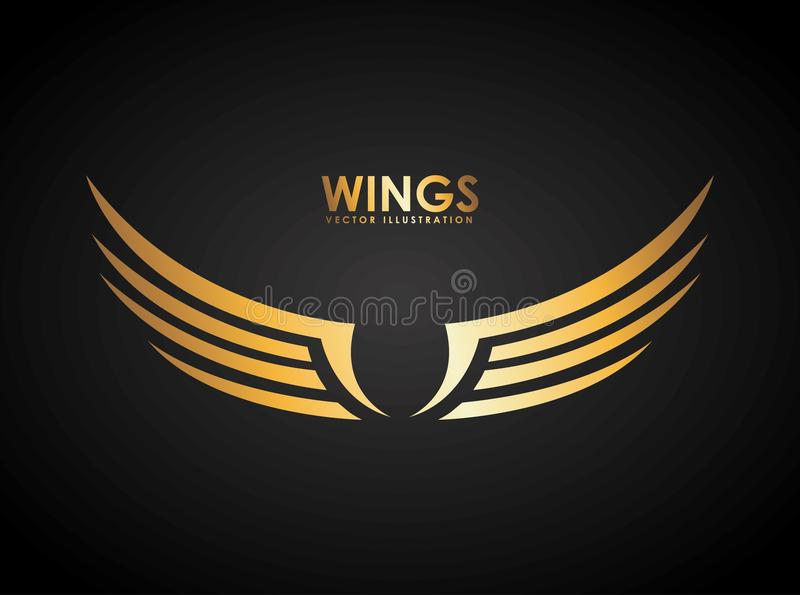 Wings design stock illustration