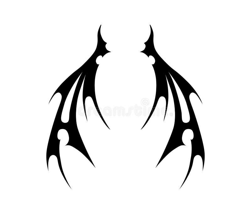 Wings of evil stock illustration