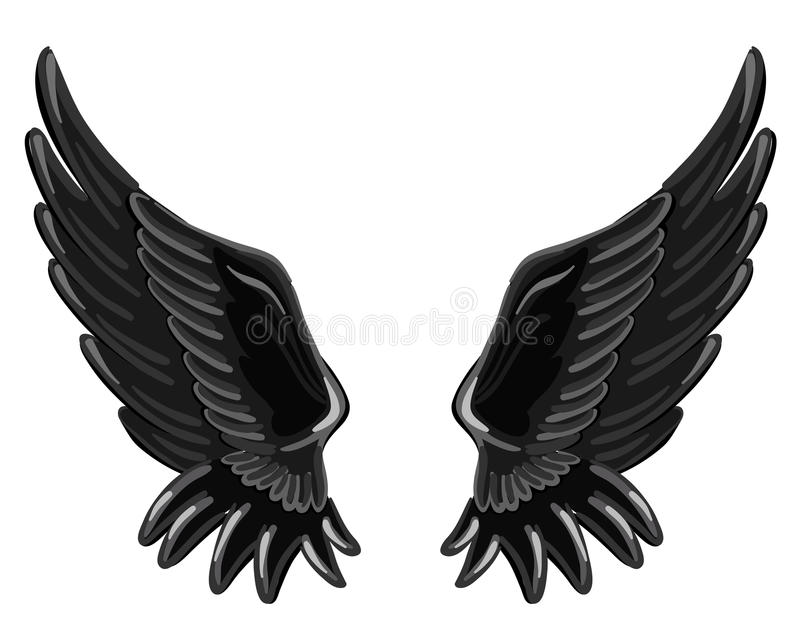 The wings of a fallen angel. Illustration -- wings of a fallen angel stock illustration