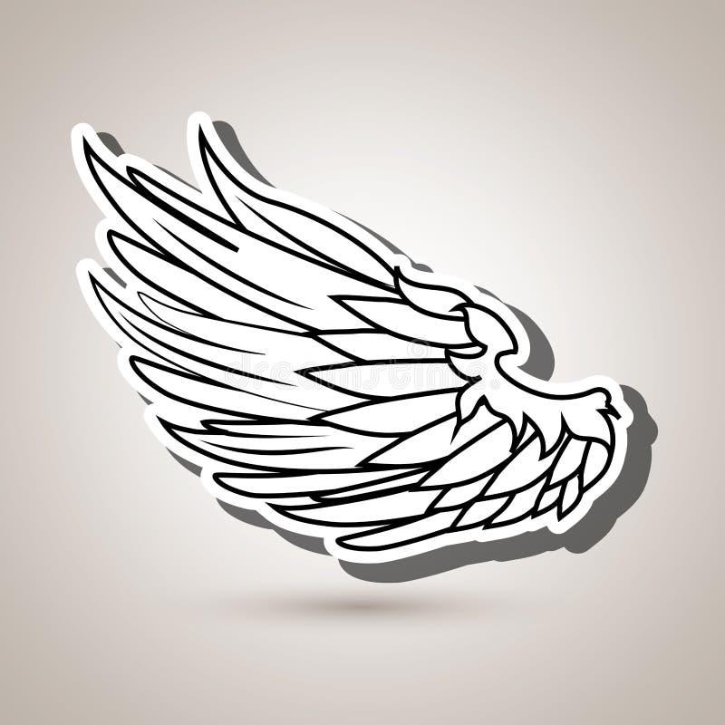 Wings icon design. Illustration eps10 graphic stock illustration