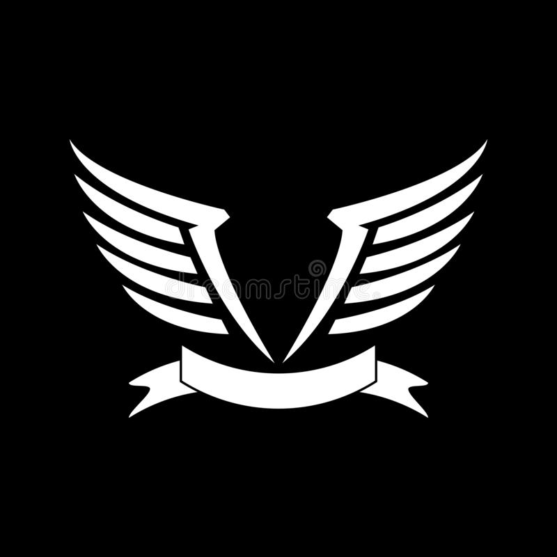wings logo design template vector illustration