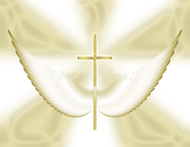 Wings of a prayer vector illustration