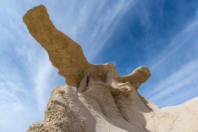The Wings rock formation in Bisti/De-Na-Zin Wilderness Area, New Mexico. USA stock image
