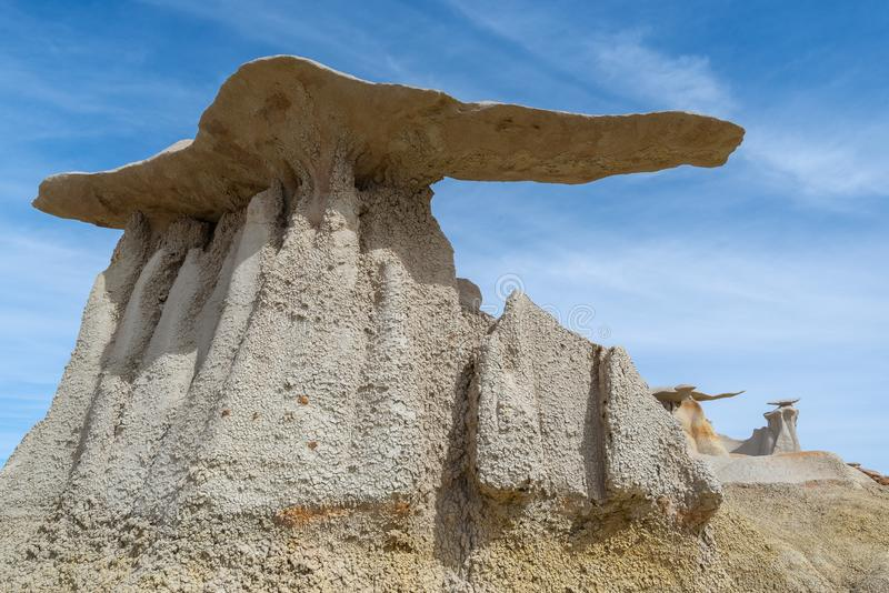 The Wings rock formation in Bisti/De-Na-Zin Wilderness Area, New Mexico. USA stock photo