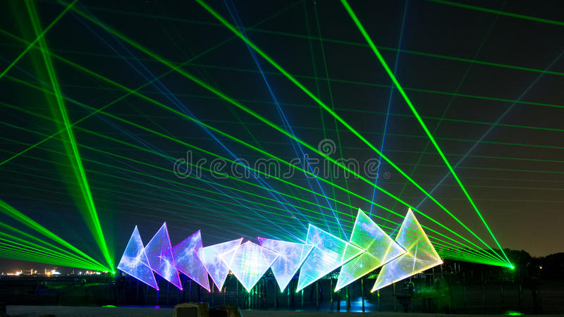 Wings of Time show, Singapore stock photos