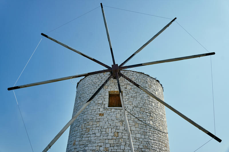 The wings of a traditional windmill royalty free stock photography
