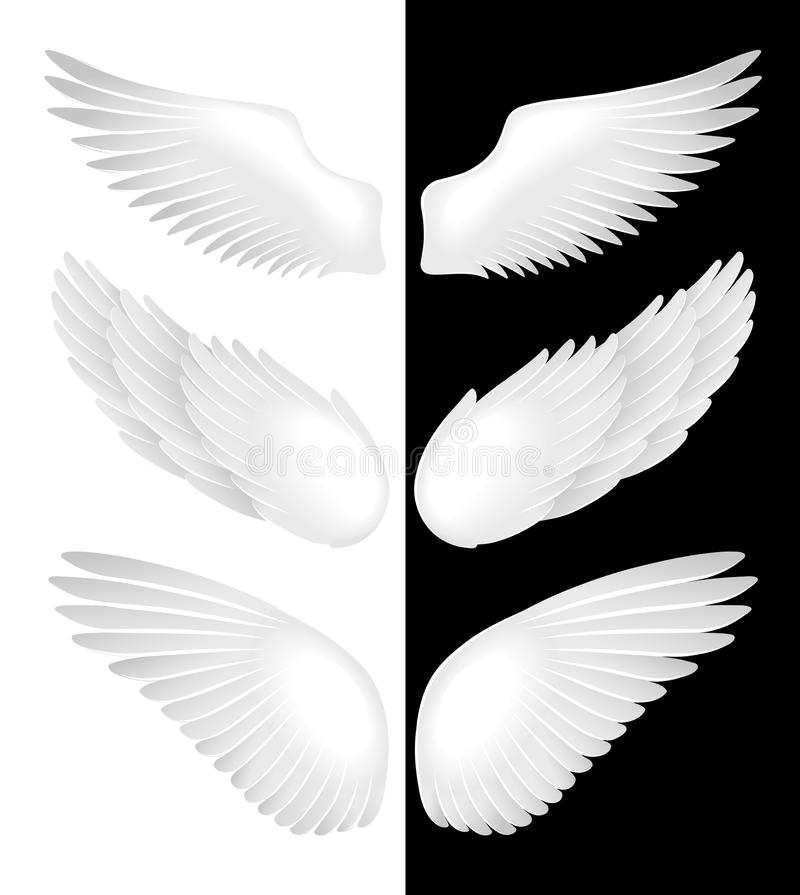Wings. Vector illustration royalty free stock photos