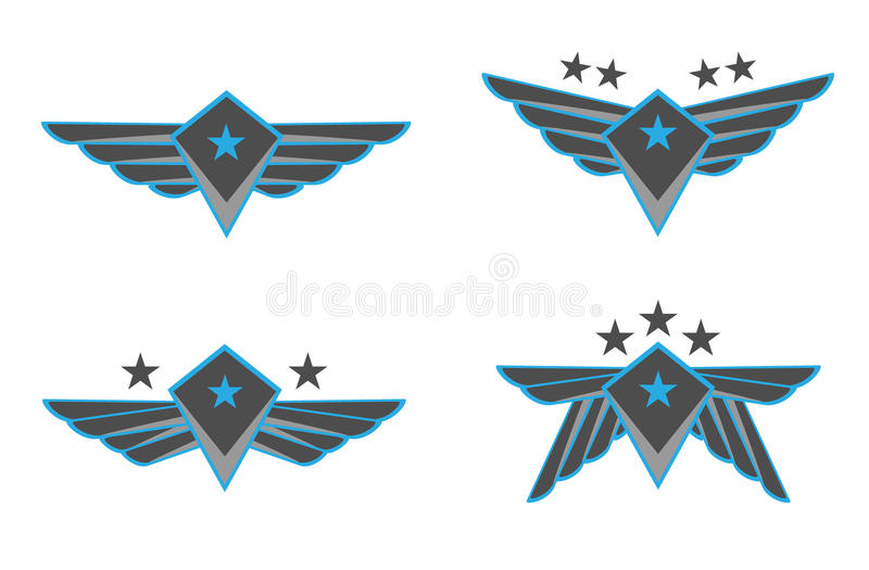 Wings Vector Illustration royalty free stock photography