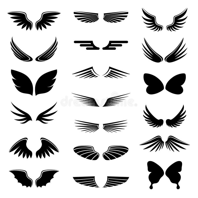 Wings Stock Vector Illustration Of Tattoo Tribal Collection