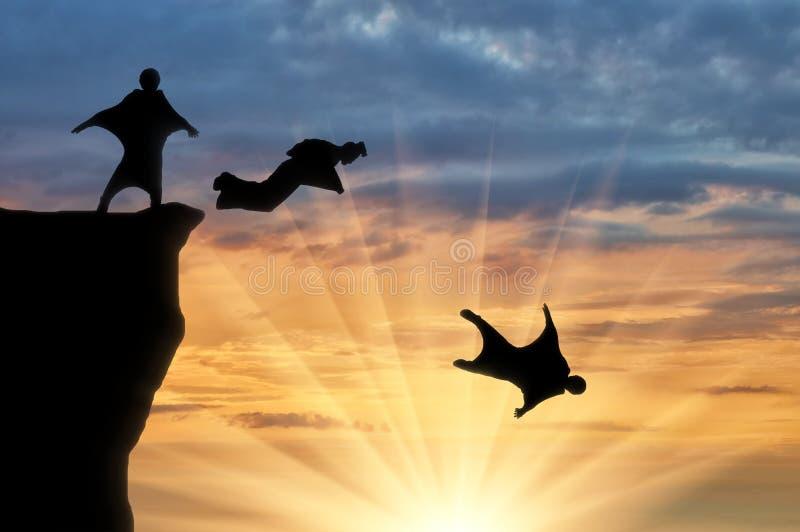Wingsuit extreme sporten royalty-vrije stock fotografie