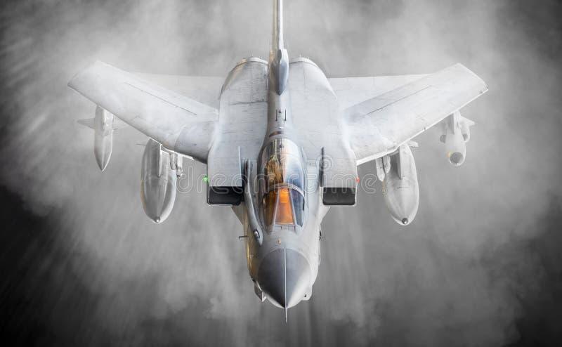 Wingtip vorticies myśliwiec zdjęcie royalty free