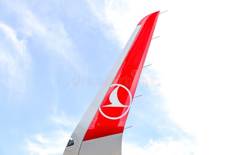 Wingtipapparaat van Turkish Airlines-Vliegtuig royalty-vrije stock foto's