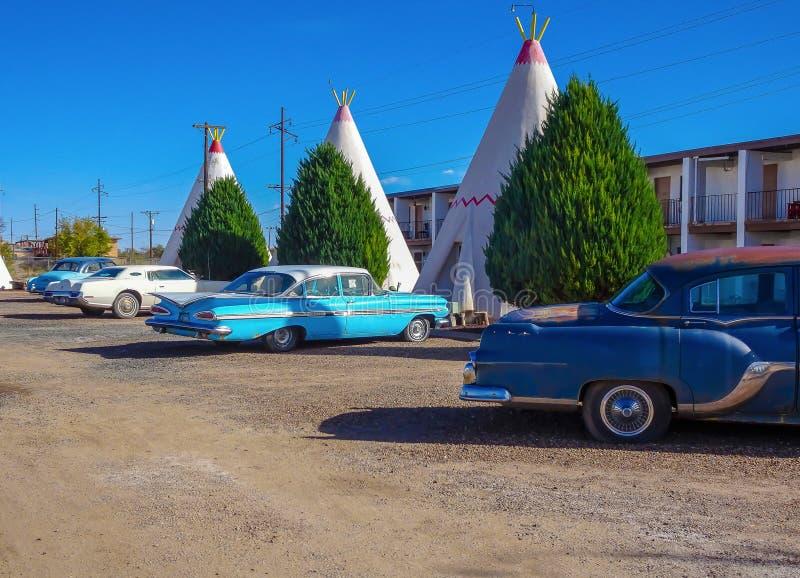 Wingwammotel in Holbrook Arizona royalty-vrije stock foto