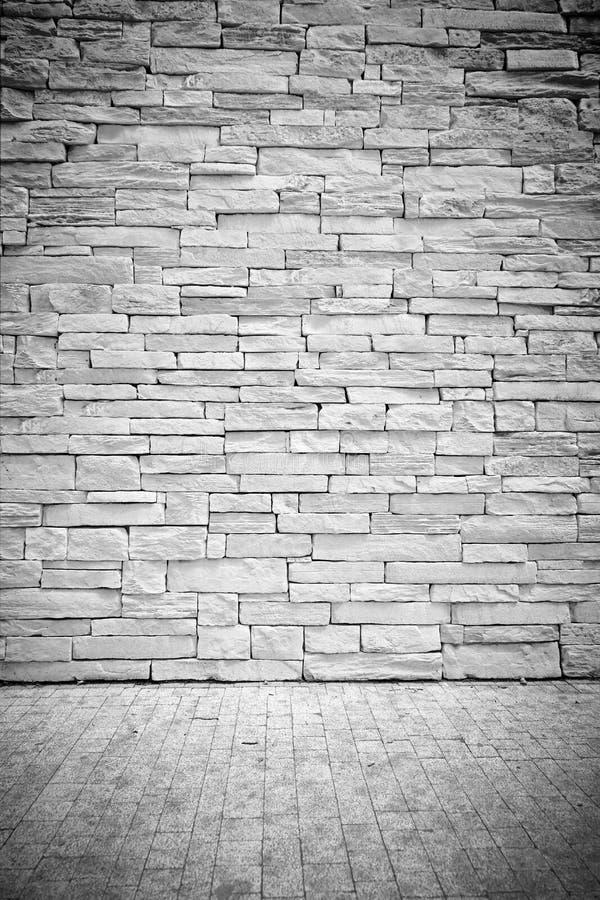 Winiety loft Lekka ściana kamieni bloki z podłoga obrazy stock