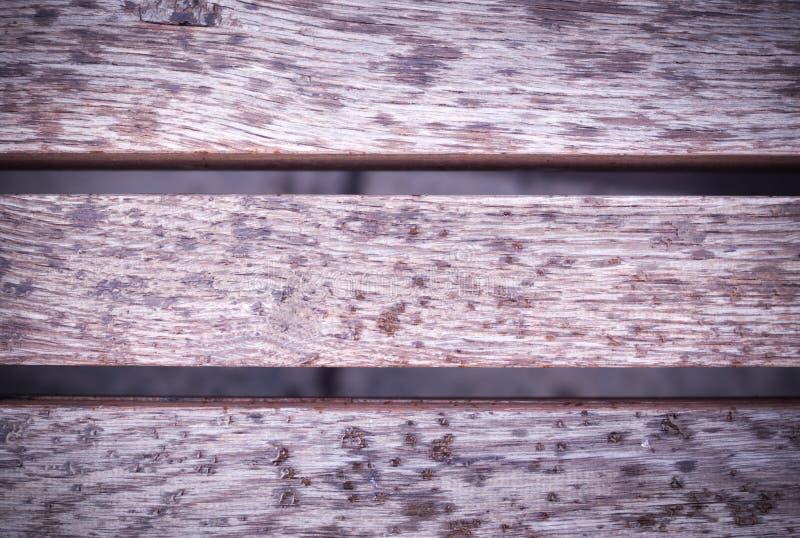 Winiety szara drewniana nawierzchniowa tekstura, ławka Tło obraz stock