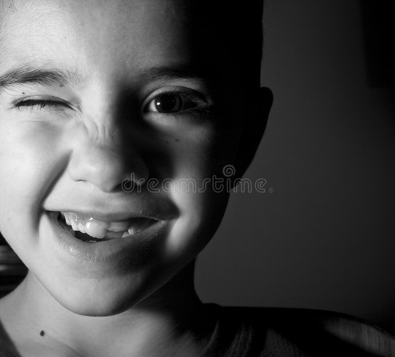 Download Wink stock photo. Image of wink, face, black, right, portrait - 5129798