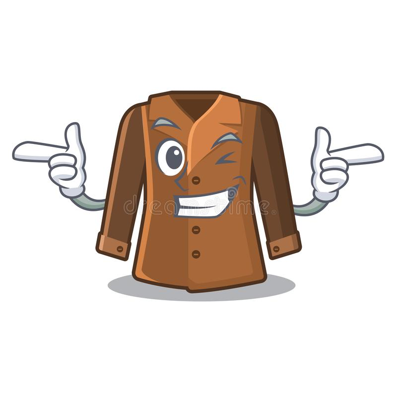 Wink coat isolated with in the mascot vector illustration