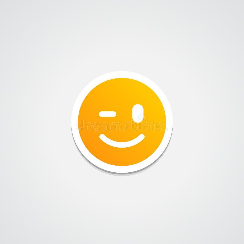 Wink Emoji Sticker foto de stock royalty free