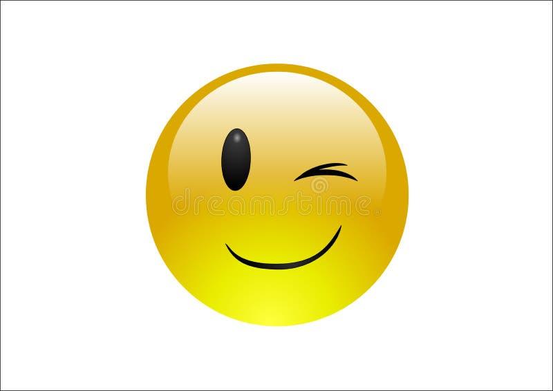 wink emoticons aqua