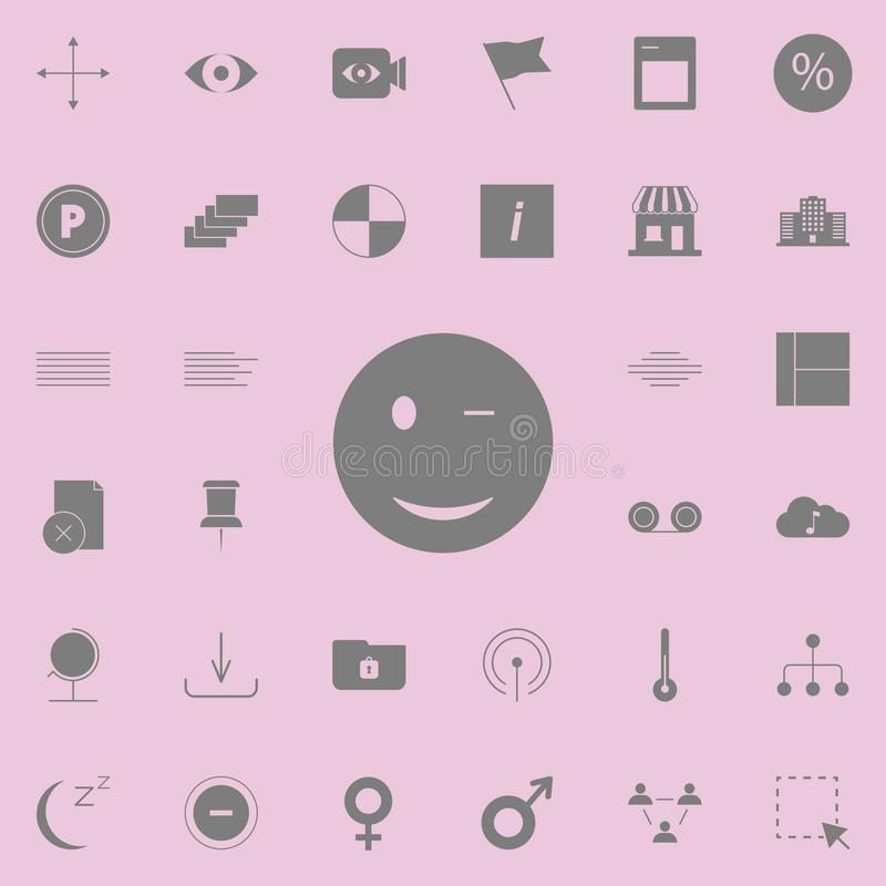 Wink Smiley icon. web icons universal set for web and mobile. On white background vector illustration