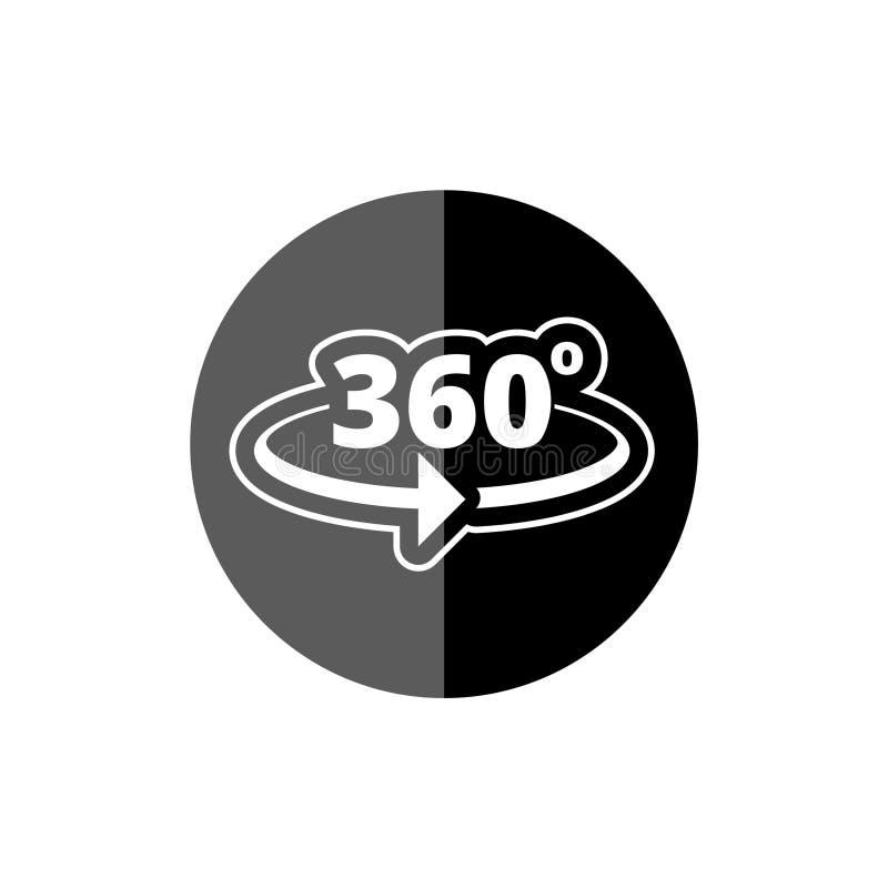 Winkel 360-Grad-Ikone lizenzfreie abbildung