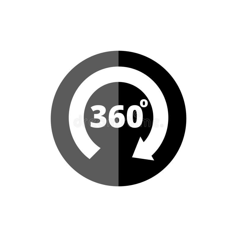 Winkel 360-Grad-Ikone vektor abbildung
