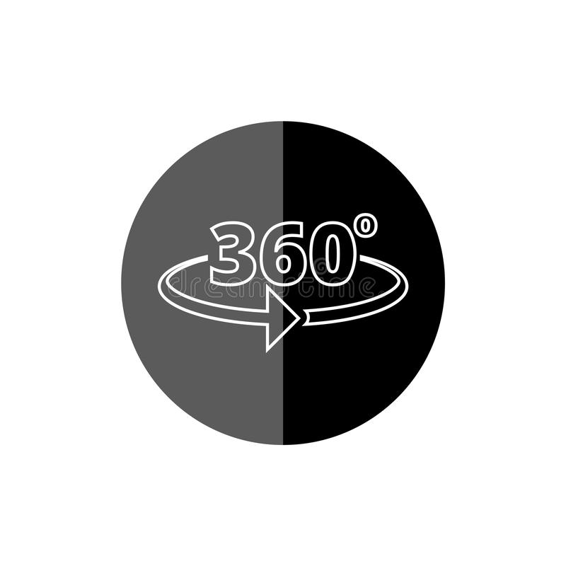 Winkel 360-Grad-Ikone stock abbildung