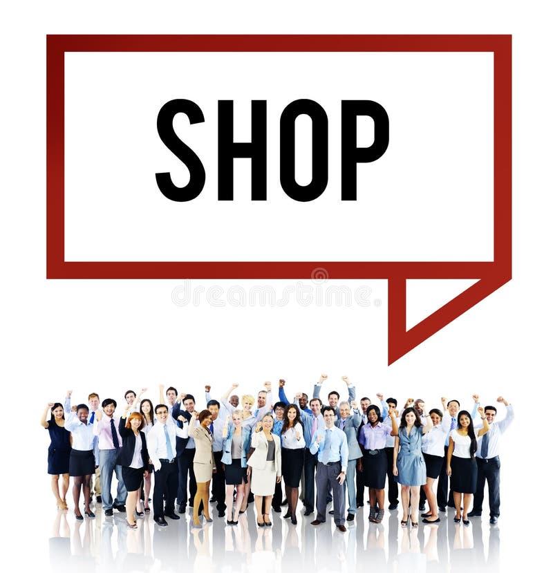 Winkel het Winkelen Afdeling Marketing Handelsconcept royalty-vrije stock fotografie