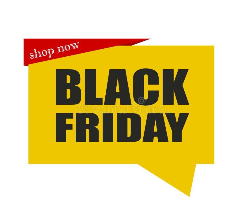 Winkel nu! Het is Black Friday en wij bieden grote overeenkomsten aan!! stock illustratie