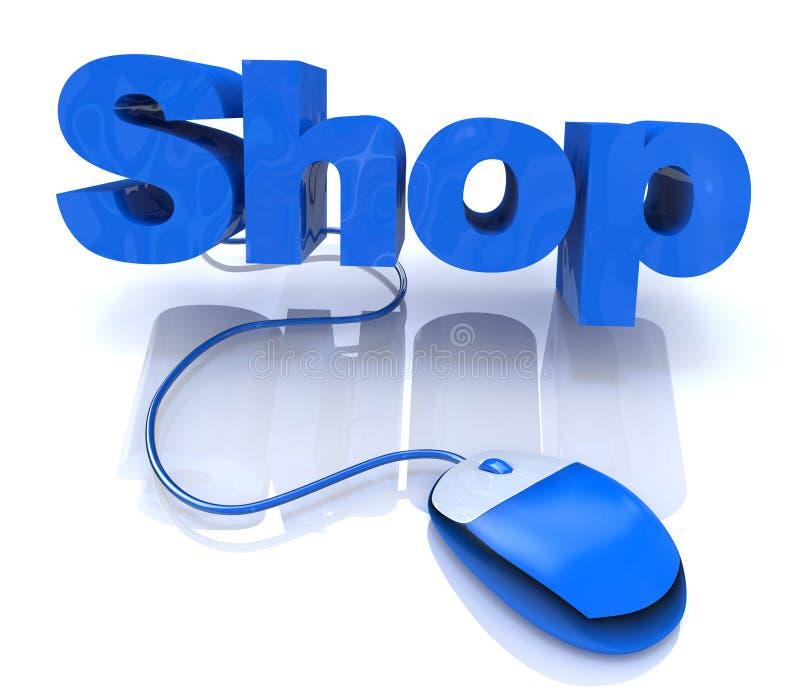 Winkel online vector illustratie
