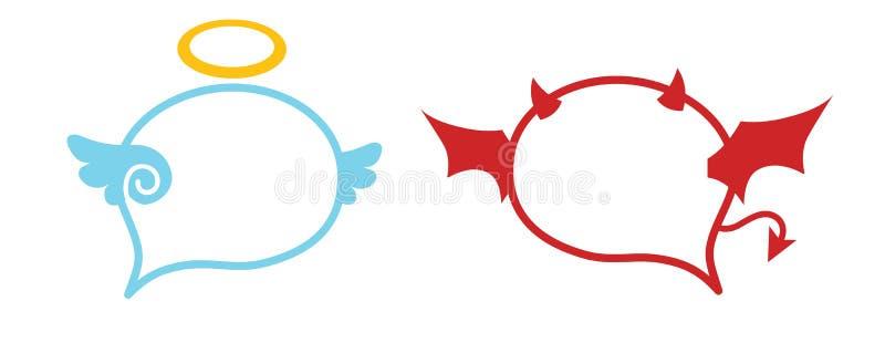 Winkel - Teufel-Sprache-Ballon lizenzfreie abbildung