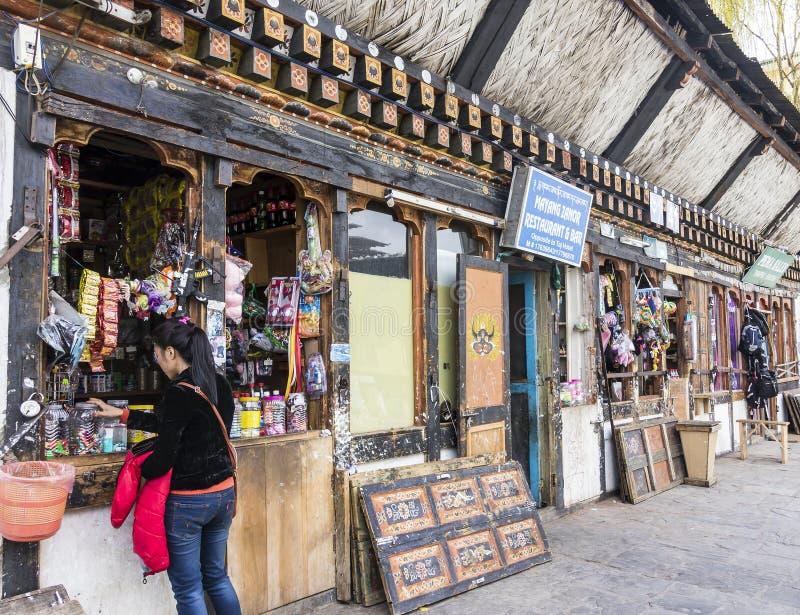 Winkel in Thimpu stock fotografie