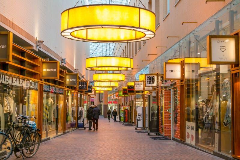 Winkelarcade in Hilversum, Nederland royalty-vrije stock fotografie