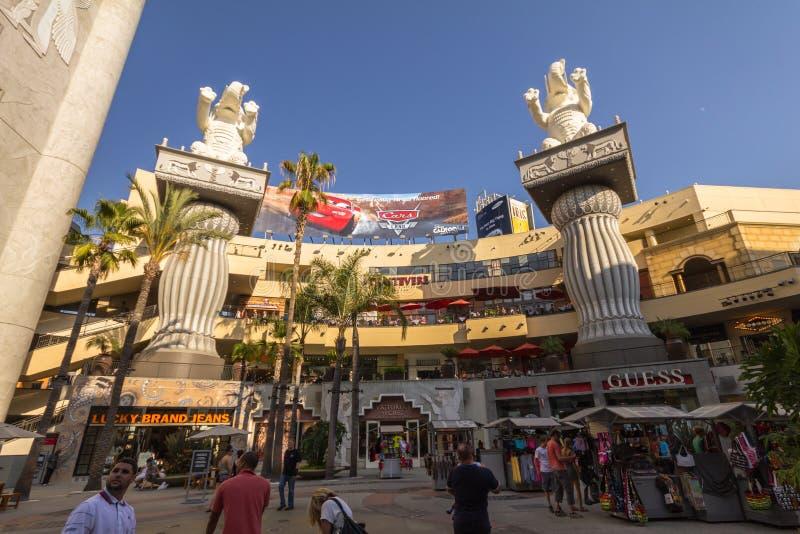 Winkelcentrum bij gang van bekendheid, Hollywood royalty-vrije stock fotografie