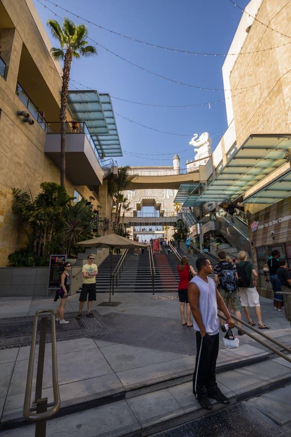 Winkelcentrum bij gang van bekendheid, Hollywood stock fotografie