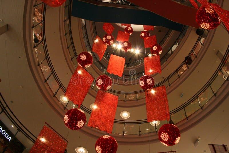 Winkelcentrum bij nacht royalty-vrije stock fotografie